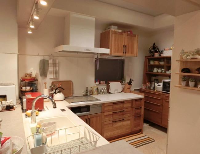 自宅マンション システムキッチン