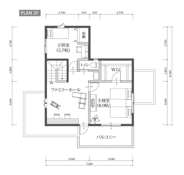 ONE'S CUBOのプラン詳細 | センターキッチンのある暮らし。 | 株式会社Home plus(ホームプラス)