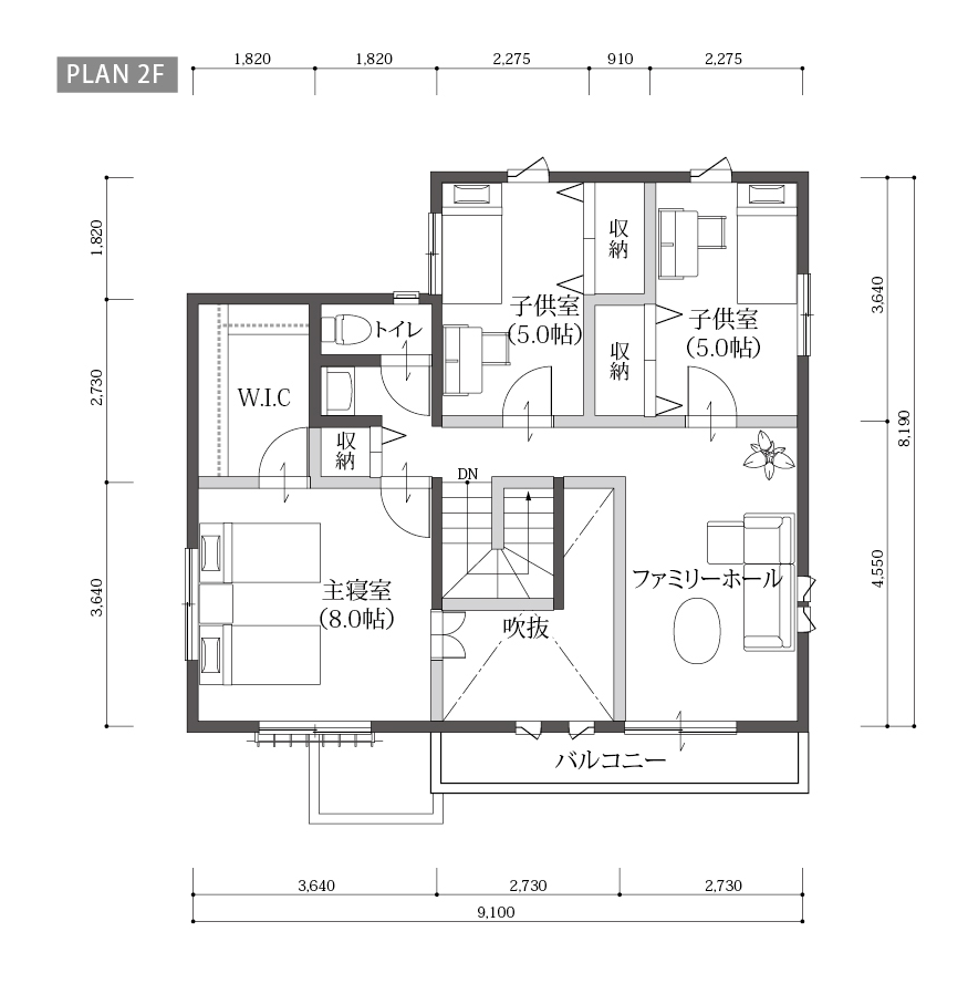 ONE'S CUBOのプラン詳細 | 土間ギャラリーのある暮らし | 株式会社Home plus(ホームプラス)